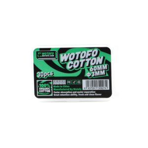 Wotofo Agleted Organic Cotton 3 mm 30pcs - Package