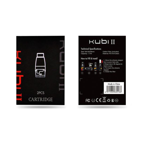 Hotcig Kubi 2 Refillable Pod med Filter - Packaging